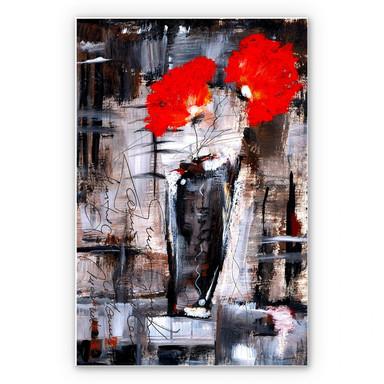 Wandbild Niksic - Leuchtend Rot