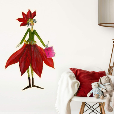 Wandtattoo Leffler - Blütenelfe Dezember