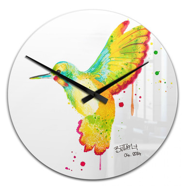 Wanduhr Buttafly - Kolibri