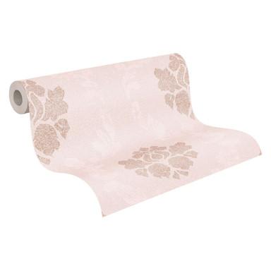 A.S. Création Vliestapete New Elegance Barocktapete mit Ornamenten, rosa, metallic, creme