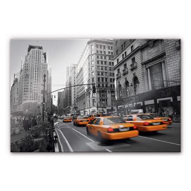 Arylglasbild Cabs in Manhattan