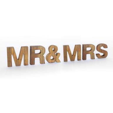 Holz Dekobuchstaben zum Hinstellen - Mr & Mrs