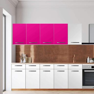 Klebefolie - Wandschrank 160cm Breite - Pink Dark
