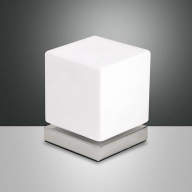 LED Tischleuchte Brenta in chrom 6W 540lm dimmbar