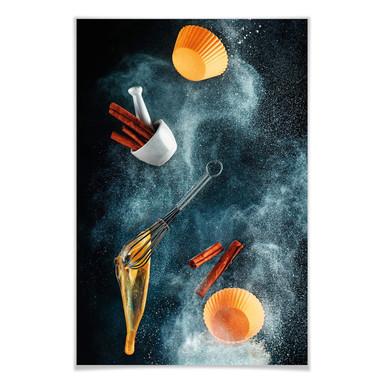 Poster Belenko - Kitchen mess: cinnamon cupcake