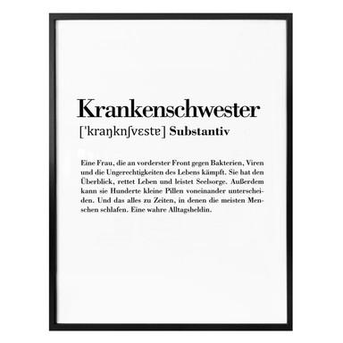 Poster Grammatik - Krankenschwester