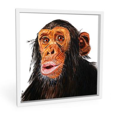 Wandbild Toetzke - Affenporträt - quadratisch