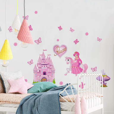 Wandsticker Princess Set