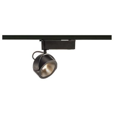 1-Phasen LED Schienenspot Kalu, dimmbar, 3000K, schwarz, 24°