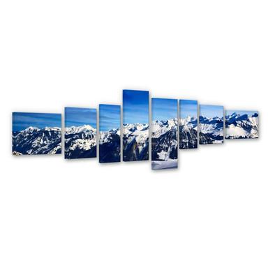 Leinwandbild Alpenpanorama (8-teilig)