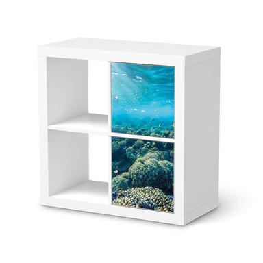 Möbelfolie IKEA Kallax Regal 2 Türen (hoch) - Underwater World