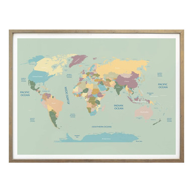 Poster Weltkarte Vintage