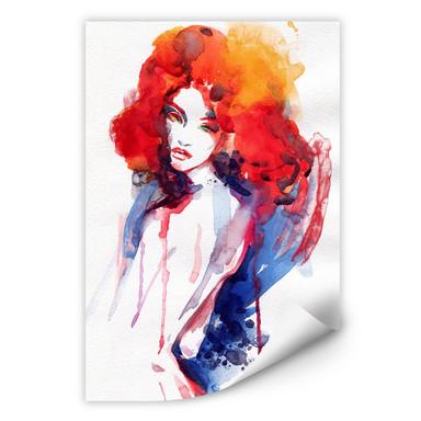 Wallprint Die Frau mit dem feuerroten Haar