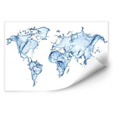 Wallprint Splashing Worldmap