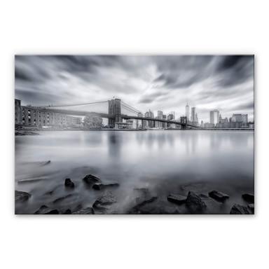 Acrylglasbild Javier - Brooklyn Bridge