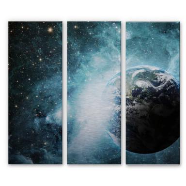 Alu Dibond Bild In einer fernen Galaxie (3-teilig)