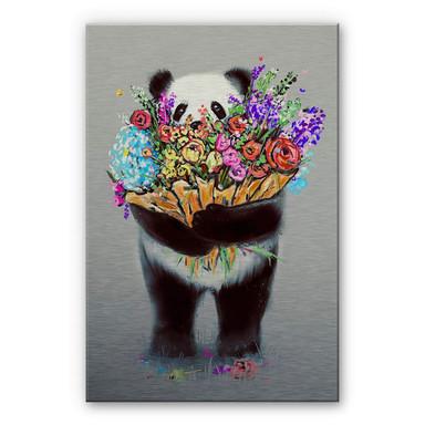 Alu-Dibond-Silbereffekt Nicebleed - Flowers for you