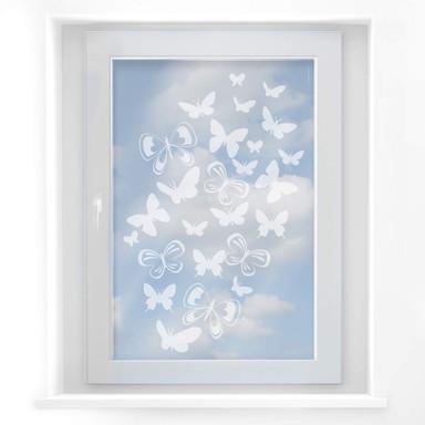 Fensterdekor Schmetterlingsschwarm