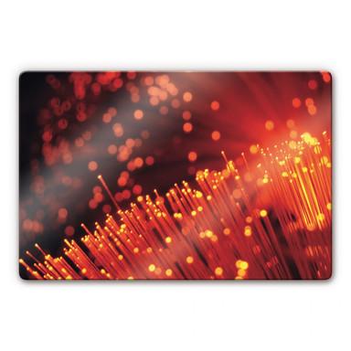Glasbild Lichtfasern abstrakt