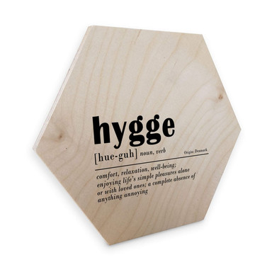 Hexagon - Holz Birke-Furnier - Sisi & Seb - Hygge