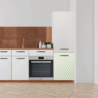 Klebefolie - Hochschrank (60x80cm) - Retro Pattern - Grün- Bild 1