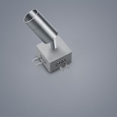 LED Lichtschienen Spot Vigo in nickel-matt 4W 360lm 90°-Verbinder