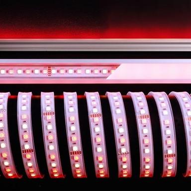 LED Stripe 5050-96-24V-Rgb&2800K-5M-Silikon in Weiss 2600lm IP67