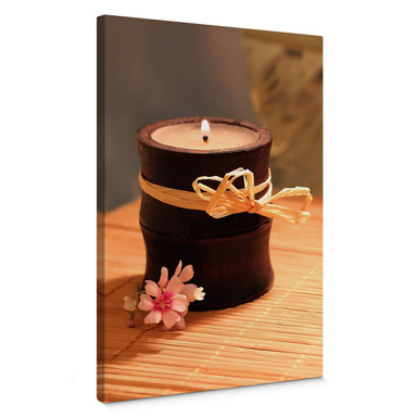 Leinwandbild Wellness Candle