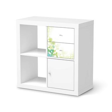 Möbelfolie IKEA Kallax Regal Schubladen - Flower Light