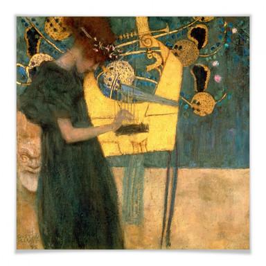 Poster Klimt - Die Musik