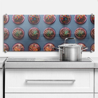 Spritzschutz Birthday Muffins - Panorama