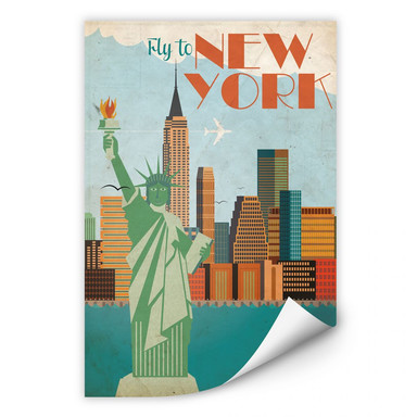 Wallprint PAN AM - Fly to New York