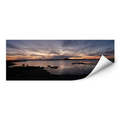 Wallprint Seepanorama im Sonnenuntergang
