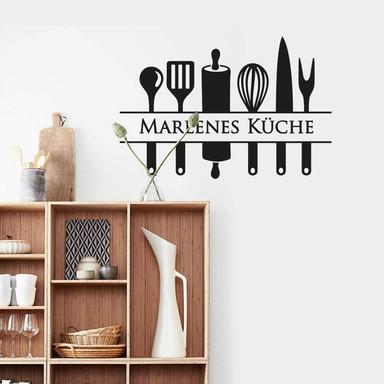 Wandtattoo & Name Küche