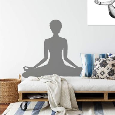 Wandtattoo Yoga Meditationsstellung 02