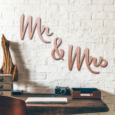 Alu-Dibond Buchstaben - Kupfereffekt - Mr & Mrs
