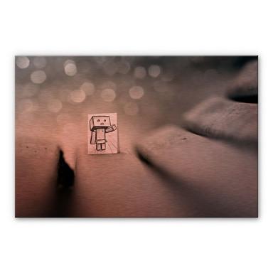 Alu-Dibond-Kupfereffekt Heine - Sei mein Freund