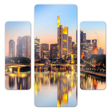 Glasbild Frankfurter Lichter (3-teilig)