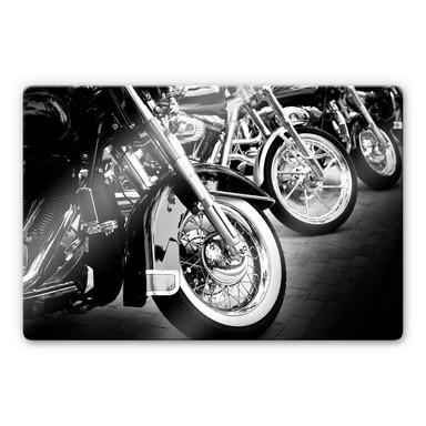 Glasbild Motorcycle Wheels