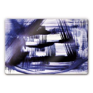 Glasbild Preussisch Blau