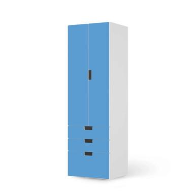 Klebefolie IKEA Stuva / Malad - 3 Schubladen und 2 grosse Türen - Blau Light- Bild 1