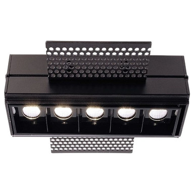 LED Deckeneinbauleuchte Ceti 5 Hide in Schwarz und Transparent 10W 640lm