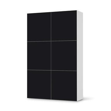 Möbel Klebefolie IKEA Besta Schrank 6 Türen (hoch) - Schwarz- Bild 1