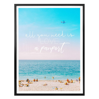 Poster - All you need is a passport