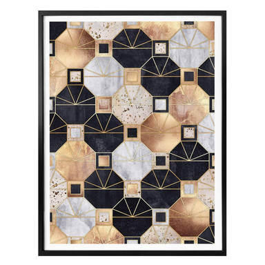 Poster Fredriksson - Art Deco: Gold und Schwarz