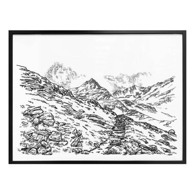 Poster Sparshott - Die Berglandschaft