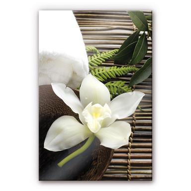 Acrylglasbild Wellness Orchidee