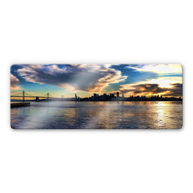Glasbild San Francisco Skyline - Panorama