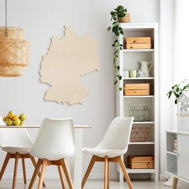 Holzkunst Pappel Furnier - Karte Deutschland