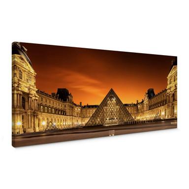 Leinwandbild Kiciak - Illuminated Louvre